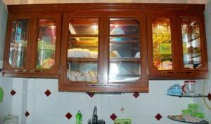 làm tủ bếp nhôm kính tại quận 9