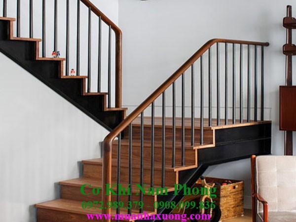 Mẫu cầu thang sắt cao cấp