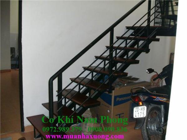 Mẫu lan can cầu thang sắt đẹp