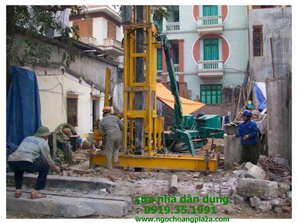 Ép cọc bê tông nhà dân tại đồng nai