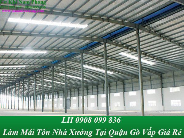 Công ty làm mái tôn nhà xưởng tại quận gò vấp chuyên nghiệp