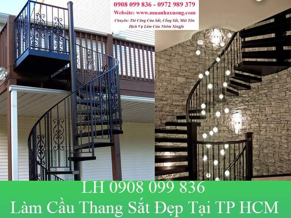 Làm cầu thang sắt đẹp tại TP HCM với giá rẻ nhất