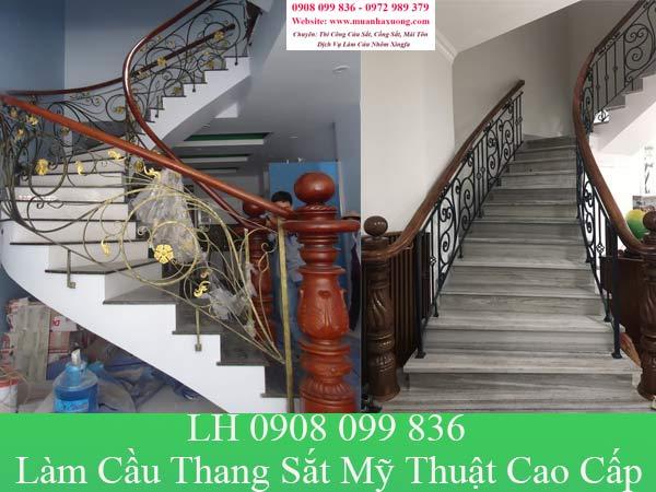 Dịch vụ làm cầu thang sắt mỹ thuật cao cấp